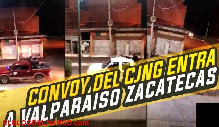 Vídeo de el convoy del CJNG ingresan a Zacatecas, el Gobierno de Zacatecas lo niega