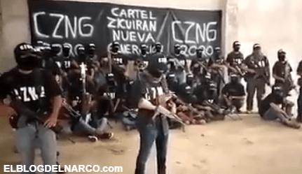 """CZNG El nuevo cartel y brazo armado del """"Mencho"""" anunció su llegada a Michoacán"""