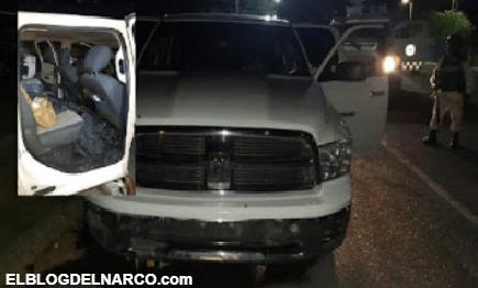 IMÁGENES Esta es la camioneta asegurada al CDN ayer por la Guardia Nacional en Nuevo Laredo