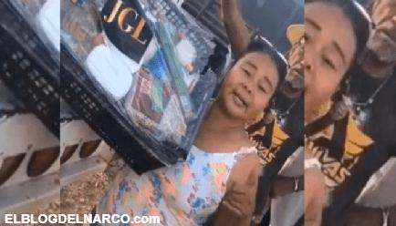 VÍDEO El Chapo Guzmán manda a regalar narcodespensas en Culiacán, Sinaloa
