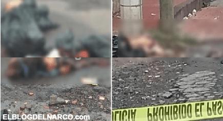 Imágenes del terror, ejecutan, descuartizan y tiran con narcomensaje a pareja en Ixtlahuaca