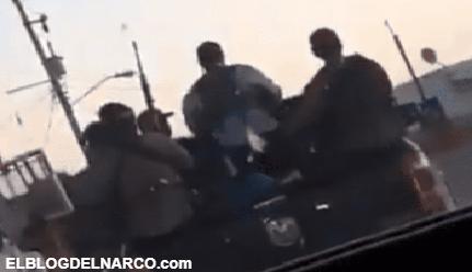 VÍDEO Sicarios del Cártel de Sinaloa se exhiben fuertemente armados patrullando calles de Sonora