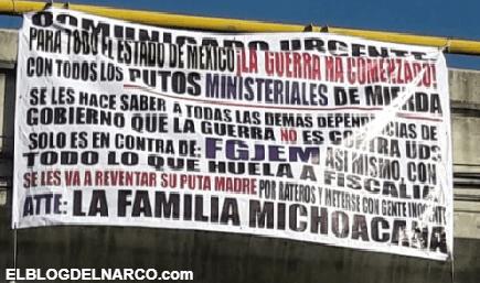 """""""La guerra ha comenzado"""", el aterrador mensaje de la Familia Michoacana en el Edomex"""