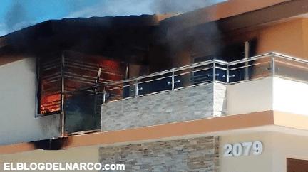 Balean residencia abandonada en Culiacán y después le prenden fuego