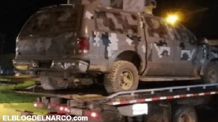 CJNG fue derrotado por Cárteles Unidos muestran camioneta como trofeo de su victoria
