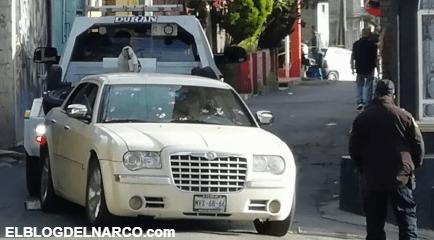 Ejecutan a cuatro hombres a bordo de un automovil 300 en Tlalpan de la Ciudad de México