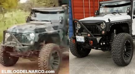En redes sociales afirman que un jeep robado en León, Guanajuato apareció en el video del CJNG