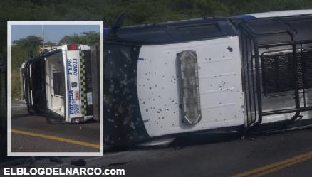 Sicarios atacan y ejecutan a cinco Policías en la carretera Apaseo El Alto – Jerecuaro