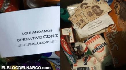 Sicarios del Cártel del Noreste entregaron narcodespensas a la población en Tamaulipas