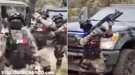 VIDEO El CJNG muestra vehículos blindados, Barrets, lanzagranadas para pelea con El Marro