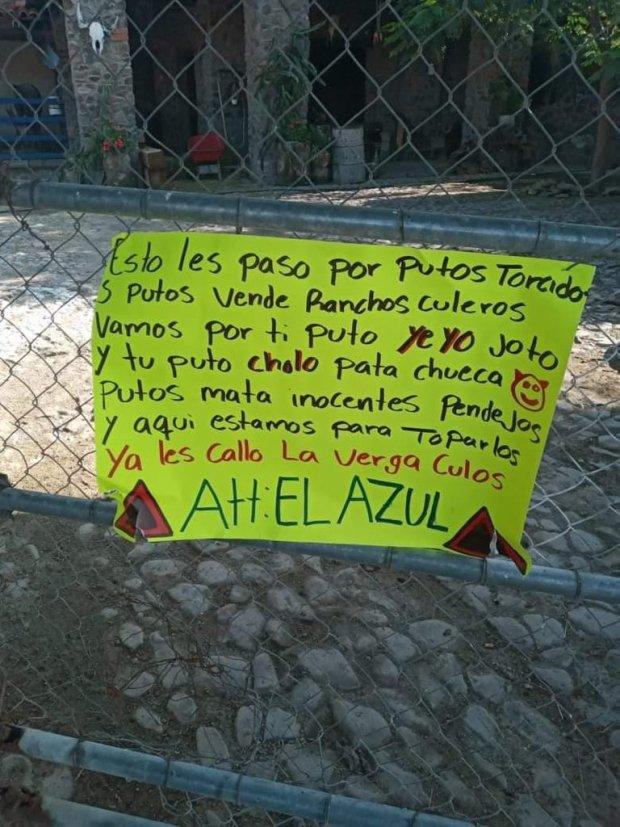 """""""El Azul"""" en narcomensajes confirma que el Cártel de Santa Rosa de Lima tiene dueño (FOTOS)"""