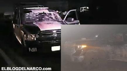 Sicarios del Cartel del Noreste atacan filtro COVID, ejecutan a un Policía e hieren a un bombero