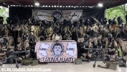 VIDEO Reaparece El Mencho y su Grupo Elite para dar las gracias por la captura de El Marro