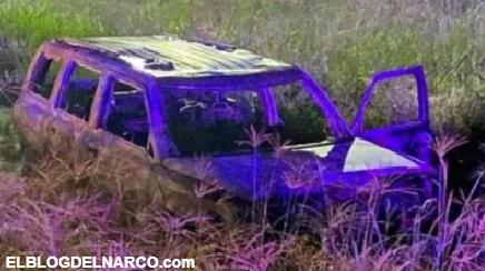 Macabro hallazgo en Guanajuato, encontraron 5 cuerpos calcinados en una camioneta