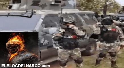 Video donde sicarios del Mencho le quemaron rostro a el Ghost Rider de los Carteles Unidos