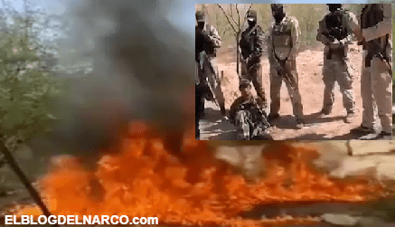 Video donde sicarios queman vivo a miembro de Grupo Delta del Cártel de la Barredora