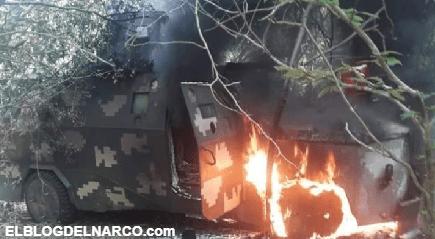 CJNG quiso madrugar al ejército en Michoacán pero fueron repelidos con todo y monstruos blindados (FOTOS)