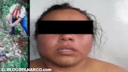 Capturan a La Carnicera del CJNG, la mujer aparece en video cortando en pedazos a víctima