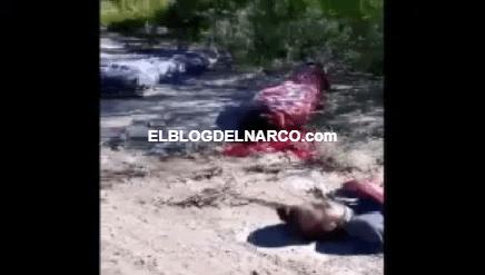 Difunden video fuerte de cuerpos de seis personas halladas con signos de tortura y disparos