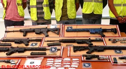Capturan a cinco Sicarios con armas de alto poder en Ciudad Juárez, Chihuahua