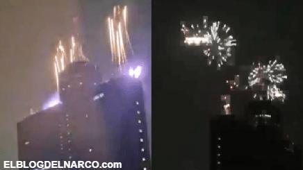 Disney Plus con cohetes celebró su llegada a México, los vecinos ricachones se murieron de miedo al pensar que era una balacera