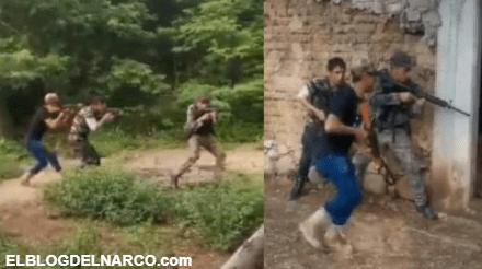 VIDEO: Sicarios se graban practicando cateos y tácticas, se presume son de La Familia Michoacana