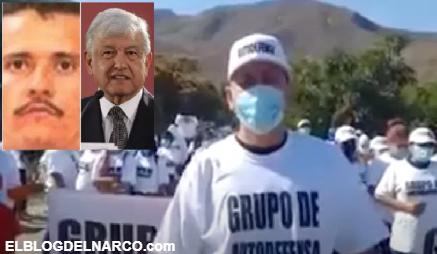 Autodefensas piden ayuda a AMLO para luchar contra el Mencho y el CJNG (VIDEO)