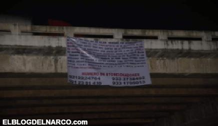 Cártel Jalisco Nueva Generación en Veracruz, narcomantas siembran el miedo entre la población