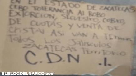 El Cártel del Noreste entró a la batalla por Zacatecas, dejaron cuerpos y narcomensajes al CJNG