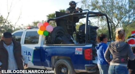 En Tamaulipas Policías se adelantaron a Sicarios del CDG y Zetas y repartieron juguetes a Niños (Fotos)