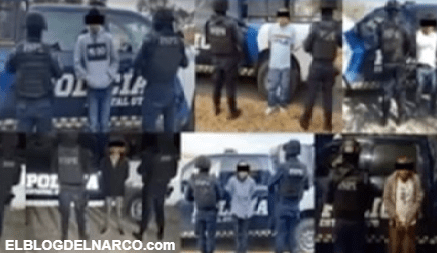 Golpe al narco en Guanajuato, capturaron a 8 sicarios, incautaron droga, armas largas y equipo táctico