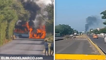 Terror por narcobloqueos en Apatzingán, zona de disputa entre el CJNG y Cárteles Unidos