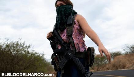 Carteles Unidos arma grupo de 40 mujeres con fusiles de asalto para combatir al CJNG en Michoacán