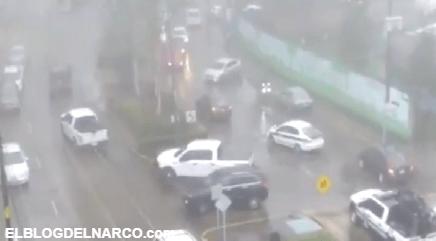 Las imágenes del enfrentamiento entre policías y sicarios que dejó cinco muertos en Veracruz