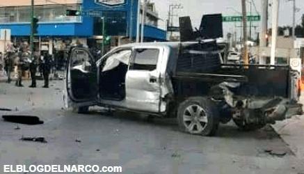 Mas imágenes de la balacera que dejo cinco sicarios muertos, 5 armas, 2 vehículos asegurados