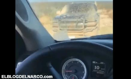 Video de las camionetas del CDN que participaron en emboscada a Militares en Nuevo Laredo
