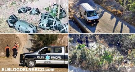 18 cuerpos y un mensaje del CJNG en Zapopan sumaron 22 bolsas con restos humanos