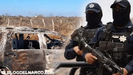Algunos de los 12 Policías detenidos por calcinar a 19 migrantes en Tamaulipas estaban drogados al momento de los hechos