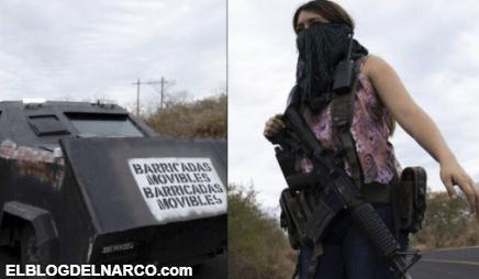 """Ni """"Autodefensas"""" ni """"Embarazadas"""", las Mujeres son integrantes del Cartel de Los Viagras"""