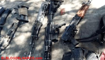 """Sicarios atacan en Zacatecas a Militares, los """"Sicarios"""" terminaron corriendo y abandonando su armamento"""