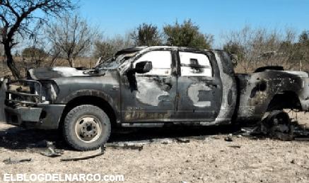 Sigue el terror en Tamaulipas, hallan 4 cuerpos calcinados en una camioneta clonada (FOTOS)