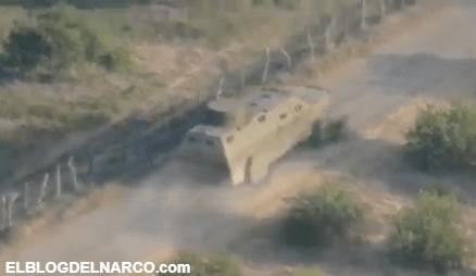VIDEO Así entraron a zona donde después los derrotaron las Trocas monstruo del CJNG