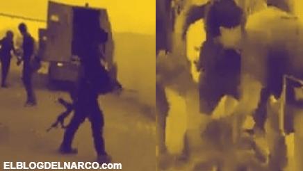 Video donde pistoleros Laceran cuerpo de al M2 sicario del Mencho tras enfrentamiento