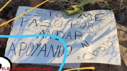 """FOTOS """"Por apoyar al Cholo"""", Hallazgo de un cadáver relacionado con la venganza del CJNG"""