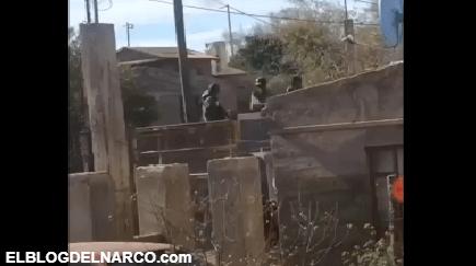Fuertes balaceras en Sonora, se burlan de Sicarios por que ya no les alcanzo para el blindado y salieron en un Camión de Volteo