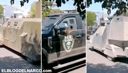 VIDEO Camiones monstruo y vehículos blindados, el infame desfile del CJNG en Michoacán