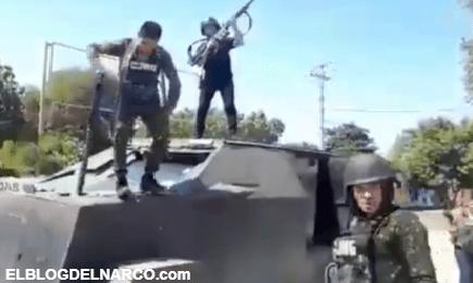 VIDEO El CJNG presumen un impresionante camión monstruo que arrebataron a Cárteles Unidos