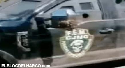 VIDEO Sicarios de las Fuerzas Especiales del Mencho del CJNG desfilan en Michoacán con camiones monstruo