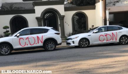 FOTOS El CDN llegan de Nuevo Laredo a San Pedro para pintarrajear carros y paredes