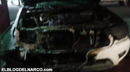 Incendia vehículo de la FGE tras detención de integrantes del Cartel de Sinaloa